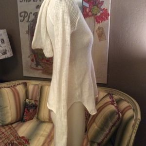 James Perse Sweaters - James Perse Ivory Cashmere V Neck Hoodie Sweater 0